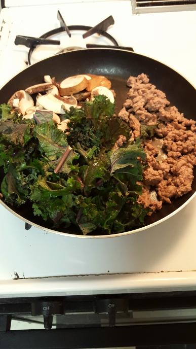 Easy Turkey, Mushroom and Kale Pasta